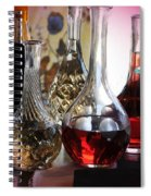 Glass Decanters And Glasses Spiral Notebook