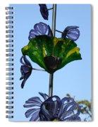 Glass Hollyhocks Spiral Notebook