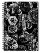 Glass Knobs - Bw Spiral Notebook