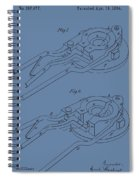 Glass Mold Patent On Blue Spiral Notebook