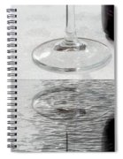 Glass Of Wine Painterly Mirrored Spiral Notebook