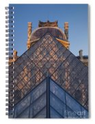Glass Pyramid At Musee Du Louvre Spiral Notebook