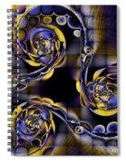 Glass Spirals Spiral Notebook