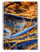 Glass Whale On Fishing Nets Spiral Notebook