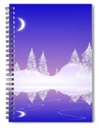 Glass Winter Spiral Notebook
