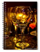 Glasses Aglow Spiral Notebook