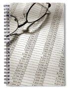Glasses On Spreadsheet Spiral Notebook