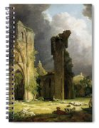 Glastonbury Abbey With The Tor Spiral Notebook