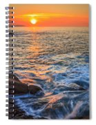 Gleaming Fire At Coitelada Galicia Spain Spiral Notebook