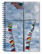 Glen Cove American Flag Spiral Notebook