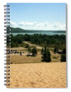 Glen Lake From The Dune Climb Spiral Notebook