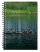 Gliding Across The Water Spiral Notebook