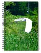 Gliding Egret Spiral Notebook
