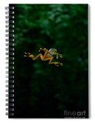 Gliding Frog In Flights Spiral Notebook