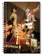 Glitter Gulch In Las Vegas Spiral Notebook