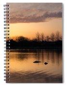 Gloaming - Subtle Pink Lavender And Orange At The Lake Spiral Notebook