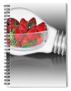 Global Strawberries Spiral Notebook
