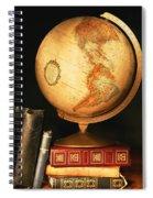 Globe And Books Spiral Notebook