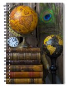 Globes And Old Books Spiral Notebook