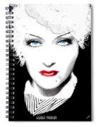 Gloria Swanson - Marlene Dietrich Spiral Notebook