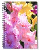 Glorious Summer Gladiolus Spiral Notebook