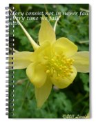 Glory Of Columbine Spiral Notebook