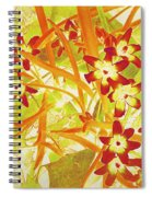 Glory Of The Snow - Lime Green And Orange Spiral Notebook