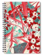 Glory Of The Snow - Red And Turquoise Spiral Notebook