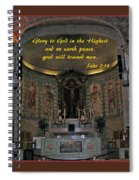 Glory To God In The Highest Spiral Notebook