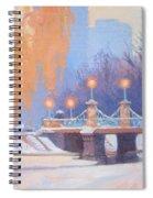 Glow On The Bridge Spiral Notebook