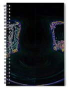 Glowing Choo Choo In Lights Abstract  Spiral Notebook