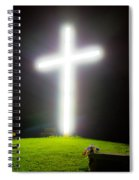 Glowing Cross Spiral Notebook