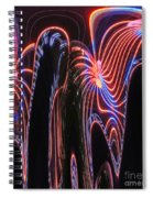 Glowing Curves Spiral Notebook