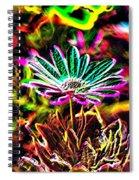 Glowing Flower Spiral Notebook