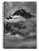 Glowing Glaciers In The Tantalus Range Spiral Notebook