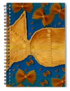 Glowing  Gold Fish Spiral Notebook