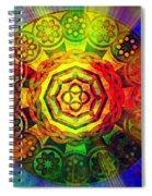 Glowing Mandala Spiral Notebook