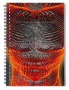 Glowing Muscle Boy Spiral Notebook