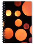 Glowing Orange Spiral Notebook
