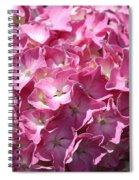 Glowing Pink Hydrangea Spiral Notebook