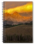 Glowing Sawtooth Mountains Spiral Notebook