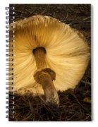 Glowing Shaggy Mane Mushroom Spiral Notebook