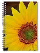 Glowing Sunflower Spiral Notebook