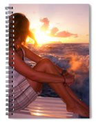 Glowing Sunrise. Greeting New Day  Spiral Notebook