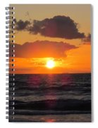 Glowing Sunrise Spiral Notebook