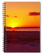 Glowing Sunset Spiral Notebook