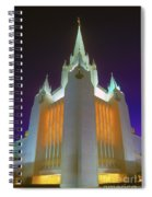 Glowing Temple Spiral Notebook