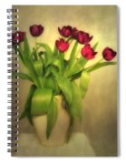 Glowing Tulips Spiral Notebook