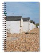 Glyne Gap Beach Huts In Sussex Spiral Notebook