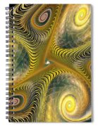 Gnarl Of Gold Spiral Notebook